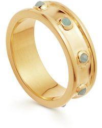 Missoma Amazonite Gold Calima Ring - Metálico