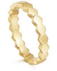 Missoma Gold Rhea Convex Ring - Metálico