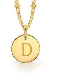 Missoma - Gold D Initial Necklace - Lyst