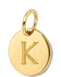 Missoma - Gold Initial 'k' Disc - Lyst