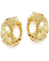 Missoma Lucy Williams Gold Chunky Waffle Hoops - Multicolor