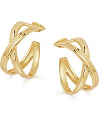 Missoma Gold Small Infini Hoops - Multicolour