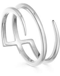 Missoma - Silver Claw Lacuna Ring - Lyst