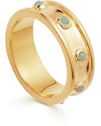 Missoma Amazonite Gold Calima Ring - Metallic