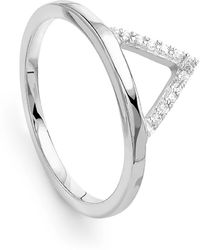 Missoma - Silver Open Arrow Ring - Lyst