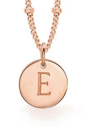 Missoma - Rose Gold E Initial Necklace - Lyst