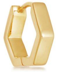 Missoma - Gold Single Chubby Hex Huggie - Lyst