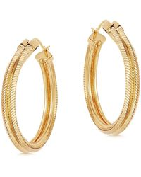 Missoma - Lucy Williams Gold Double Square Snake Chain Hoops - Lyst