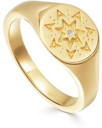 Missoma - Star Struck Signet Ring - Lyst