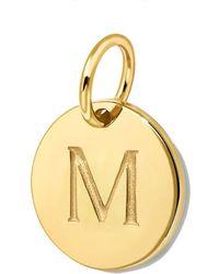 Missoma - Gold Initial M Disc - Lyst