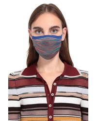 Missoni Mundschutz mit Regenbogenstreifen - Blau