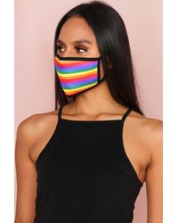 MissPap Rainbow Fashion Face Mask - Black