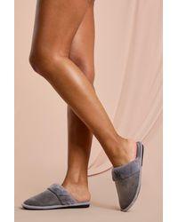 MissPap Faux Fur Mule Slipper - Grey