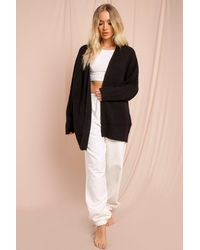 MissPap Chunky Oversized Slouchy Cardigan - Black