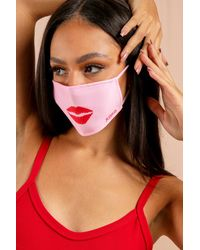 MissPap Lips Fashion Face Mask - Pink