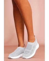 MissPap Mesh Sock Trainer - Grey