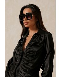 MissPap Chunky Framed Sunglasses - Black