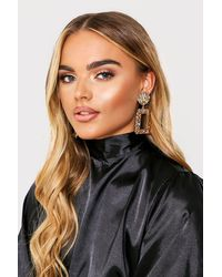 MissPap Oversized Door Knocker Earrings - Metallic