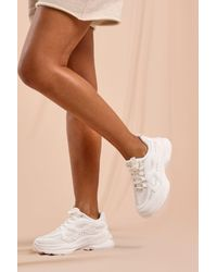 MissPap Chunky Panel Detail Trainer - White