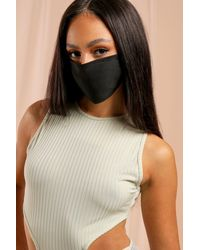 MissPap 3 Pack Fashion Face Mask - Black