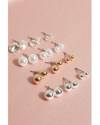 MissPap 12 Pack Mixed Diamante Pearl And Stud Pack - Pink
