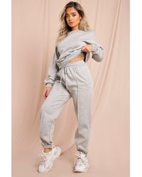 MissPap Jumper And Pinstripe Joggers Lounge Set - Grey
