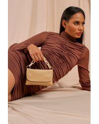 MissPap Chain Detail Strap Shoulder Bag - Natural