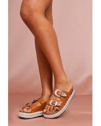 MissPap Western Style Platform Sandals - Multicolour