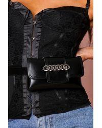 MissPap Chain Detail Bum Bag - Black