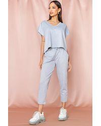 MissPap V Neck Loungewear Set - Grey