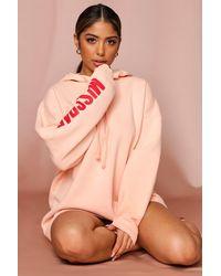 MissPap Branded Oversized Hoodie - Pink