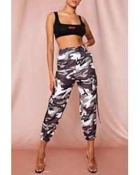 MissPap Camo Side Pocket Cargo Trouser - Grey