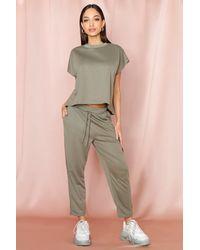 MissPap Short Sleeve Boxy Loungewear Set - Multicolour