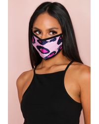 MissPap Large Leopard Fashion Face Mask - Pink
