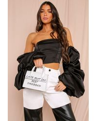 MissPap Late But Best Dressed Cross Body Bag - White