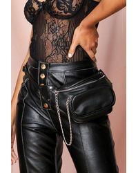 MissPap Pocket Detail Bum Bag - Black