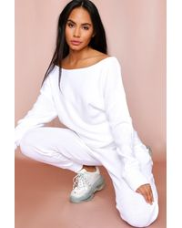 MissPap Off The Shoulder Knitted Lounge Set - White