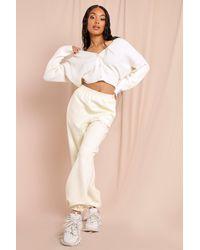 MissPap Chunky Crop Cardigan - White