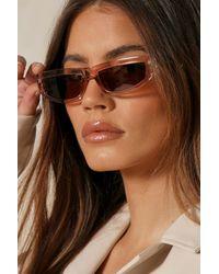MissPap Skinny Lens Sunglasses - Brown