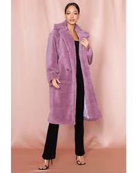 MissPap - Oversized Teddy Coat - Lyst