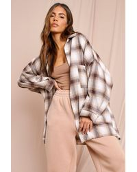 MissPap Oversized Checked Shirt - Multicolour