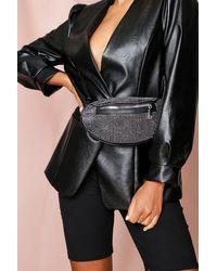 MissPap Diamante Bum Bag - Black