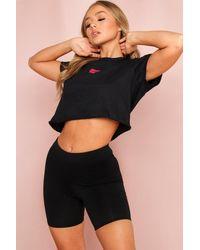 MissPap Ribbed Cycling Shorts - Black