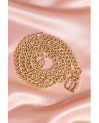 MissPap Chain Buckle Detail Belt - Metallic