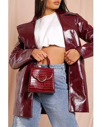 MissPap Croc Cross Body Bag - Red