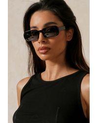 MissPap Oval Frame Sunglasses - Black