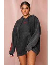 MissPap Branded Oversized Hoodie - Black