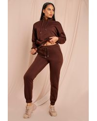 MissPap Hoody And Jogger Lounge Set - Brown