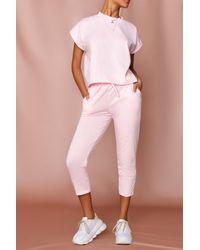 MissPap Short Sleeve Boxy Loungewear Set - Pink