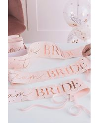 MissPap Ginger Ray Bride Sash - Pink